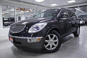 2009 Buick Enclave CXL, LEATHER, ROOF, ALLOYS, DVD, NO ACCIDENT,