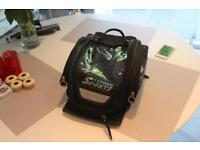 OXFORD TANK BAG LIFETIME 30 Magnetic. ,immaculate condition, map holder, converts to rucksack,