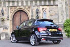 2012 62 Audi A1 S Line Sportback 5dr 1.6 Tdi Manual Black half leather MMI Full Audi history 0 Owner