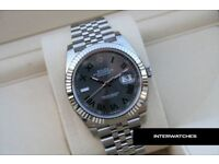 Rolex Datejust Silver Roman Dial Green Stainless Steel