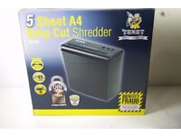 NEW TEXET A4 PAPER ELECTRIC SHREDDER STRIP CUT SHREDDING DOCUMENT 10L BIN SC10N