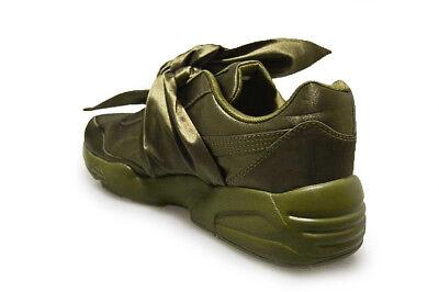 Dettagli su Donna puma Fiocco Sneaker da Rihanna Fenty x 36505404 Oliva Scarpe Sportive