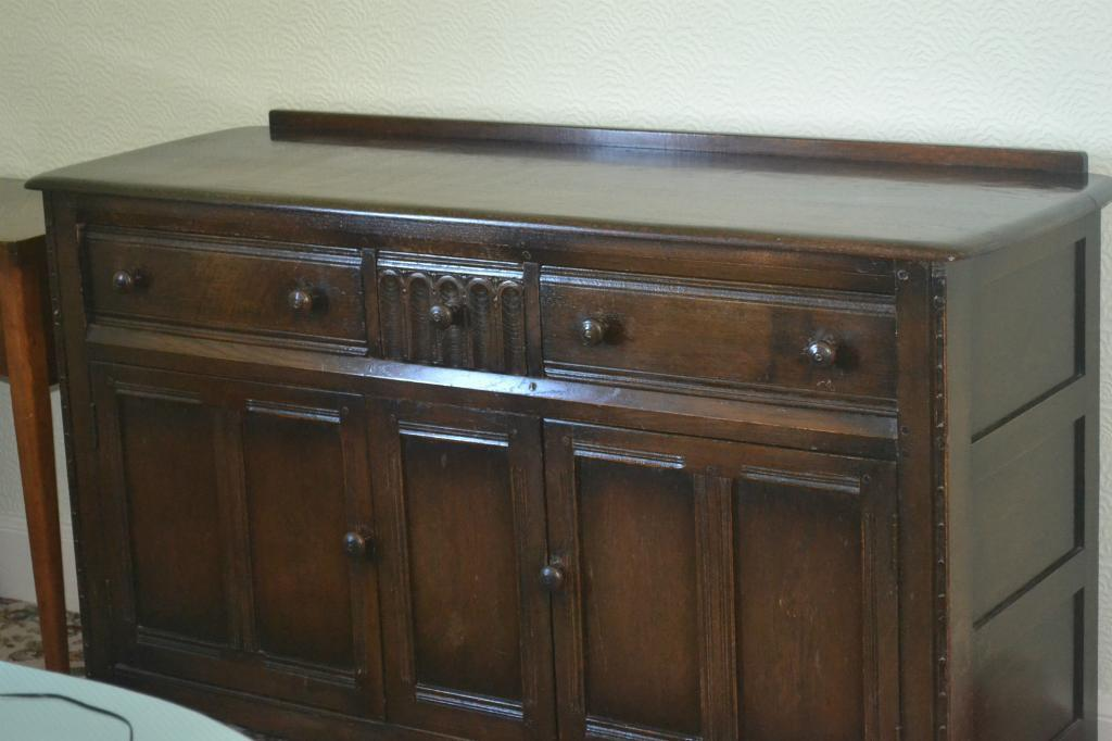 Ercol Dark Wood Sideboard In Irvine North Ayrshire