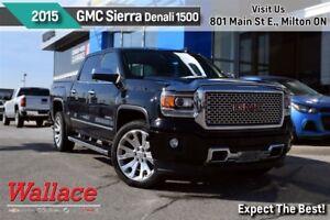 2015 GMC Sierra 1500 DENALI/V8/TRLR PKG/22s/SUNRF/G80/LTHR/NAV/