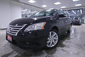 2014 Nissan Sentra SL, NAV, LEATHER, ONE OWNER, NO ACCIDENT, FUL