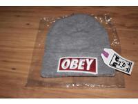 Grey Obey beanie