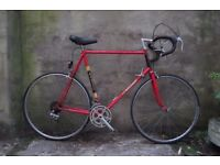 RALEIGH TI, 25 inch, 64 cm, vintage racer racing road bike, 10 speed