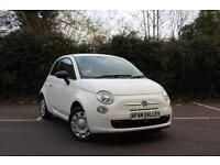 FIAT 500 1.2 Pop 3dr **1 LADY OWNER++FINANCE AVALIBLE** (white) 2012