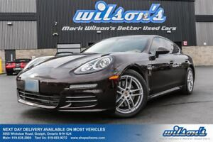 2014 Porsche Panamera 4 BALANCE OF FACTORY WARRANTY! NAV! SUNROO