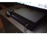 PS4 Pro 1 TB very good condition with 4 games