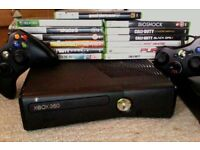 Xbox 360 with 13 Games & 2 Control pads. With GTA5, Skate3, Skyrim, Bioshock & More