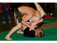 Wrestling submission practice, East Brighton, friendly club