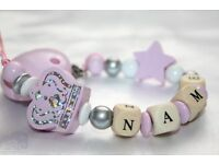 Personalised dummy chain dummy clip