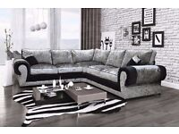 FREE DELIVERY ON THESE BRAND NEW CRUSHED VELVET TANGO SOFA'S***OTHER PRODUCTS ALSO AVAILABLE