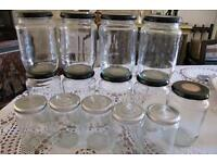30 Jam Jars - Large and Standard size - Kew TW9