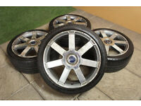 """Genuine FORD 18"""" Alloy wheels & Tyres 5x108 Focus MK2 Mondeo Transit Connect"""