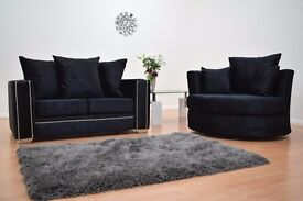 Abbey Velvet Sofa **Home Delivery Available**