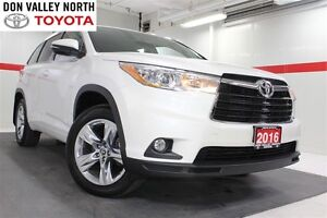 2016 Toyota Highlander Limited AWD Heated Lthr Nav Sunroof Btoot