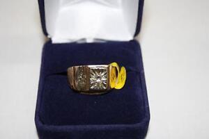 Bague en or Sertie Diamants (A010915)