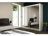 BRAND NEW MODERN DESIGN SLIDING WARDROBE MADRID - 160 / 203 CM *** FREE NEXT DAY DELIVERY ***