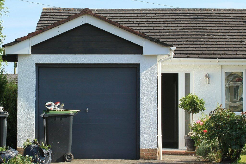 Metal Single Garage Door 7ft Wide X 6ft 6 Inches High Up And