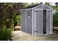 Keter Manor 6ft x 8ft DD Garden Storage Shed. Brand NEW SEALED !! Cheapest in UK !