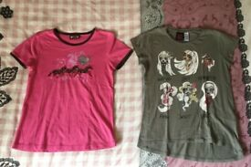 2 Girls T-shirts ( short sleeve ) Age 9/10 From Zara