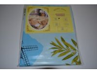 Leaves on Natural PVC Vinyl Oilcloth Wipe-Clean Tablecloth 110x140cm