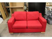 Red 2 seater sofa/sofa bed. Hardly used perfect condition. Delivery/ collect