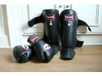 TWINS Thai boxing Gloves & Shin guards