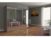 NEW CHICAGO OFFER-BRAND NEW STYLISH 3 DOOR FULL MIRROR BEDROOM WARDROBE-FAST DELIVRY