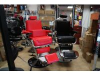 Barber chairs. Salon chairs. Traditional gents chairs
