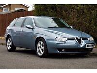 Beautiful Alfa Romeo 156 2.4 JTD 10v (150bhp) Sportwagon, LEATHER, BOSE, PARKING SENSORS