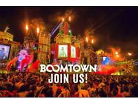 BOOMTOWN TICKET £200 ONO BRISTOL