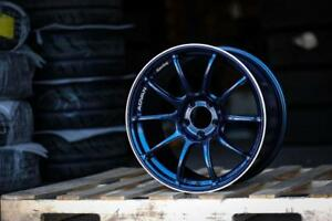 YOKOHAMA ADVAN RACING RZII RZ2 18x9.5 +45 5x114 WRX STi Indigo Blue On Sale **WHEELSCO**
