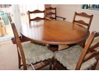 Mellowcraft Old Charm style dining table and chairs