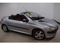 PEUGEOT 206 1.6 COUPE CABRIOLET S 2d AUTO 110 BHP RED AND BLAC (silver) 2002