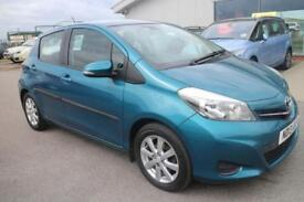 TOYOTA YARIS 1.3 VVT-I TR 5d 98 BHP - QUALITY & BEST VALUE ASSURED (turquoise) 2013