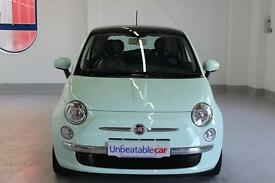 FIAT 500 1.2 Lounge 3dr [Start Stop] Leather (green) 2014