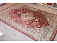 Red and gold rug Persian style rug