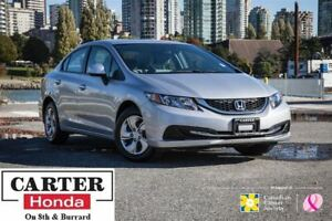 2013 Honda Civic LX + BLUETOOTH + LOCAL + CERTIFIED!