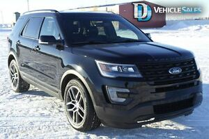 2016 Ford Explorer SPORT, 4X4, HEATED AND COOLED LEATHER SEATS,