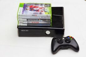 Xbox 360 250GB with Games and Controller