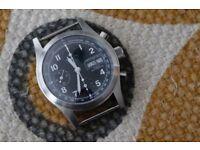 Hamilton Khaki Automatic Chrono - warranty - pristine condition Valjoux 7750