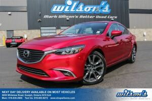 2016 Mazda MAZDA6 GT SKYACTIV! LEATHER! NAVIGATION! SUNROOF! HEA