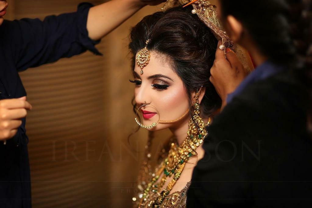 Mehndi Hairstyles For Brides : Professional bridal hair makeup waleema prom mehndi