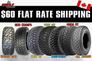 $60 TO SHIP 4 TIRES ANYWHERE IN CANADA *** Lowest Prices Guaranteed *** TIRES TIRES TIRES !!!