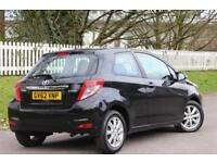 TOYOTA YARIS 1.4 D-4D TR 3d 89 BHP RAC WARRANTY + BREAKDOWN COVER!! (black) 2013