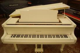 Bentley baby grand piano in white. Brand new. UK delivery available