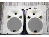Titan 8 PA Speakers x2 + Wall Brackets x2. Party DJ Speaker (Better than Roland, Mackie, KRK Rokit )